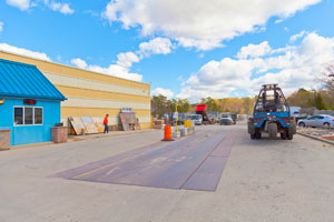We have a large supply yard behind our retail store